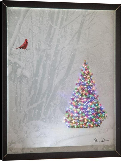 Memories of Christmas Past Fiber Optic Canvas With Remote