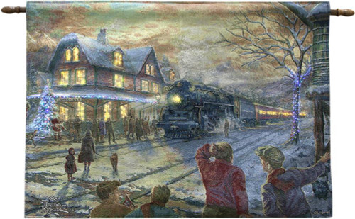 All Aboard For Christmas Train Fiber Optic Lighted Wall Hanging
