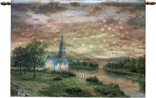 Sunrise Chapel Fiber Optic Lighted Wall Hanging with Remote