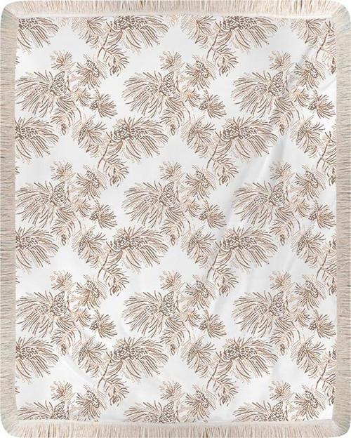 Lodge Pine Rayon Throw Blanket