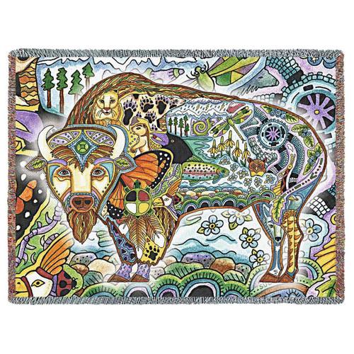 Bison Blanket by Sue Coccia