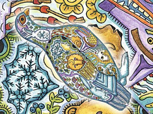 Ptarmigan Blanket by Sue Coccia