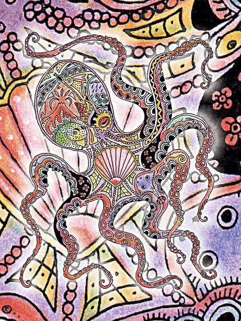 Octopus Blanket by Sue Coccia