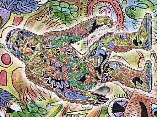 Sasquatch Blanket by Sue Coccia
