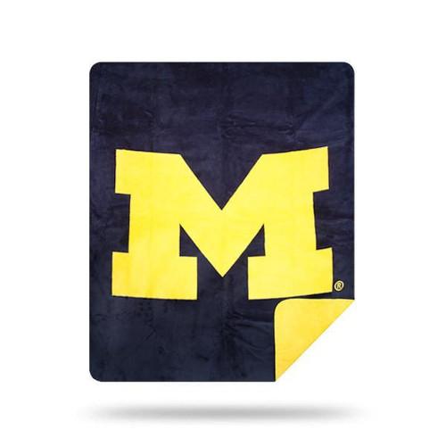 Michigan Wolverines Microplush Blanket by Denali