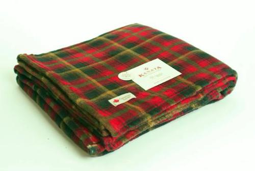 Canadian Tartan Printed Velura Blanket