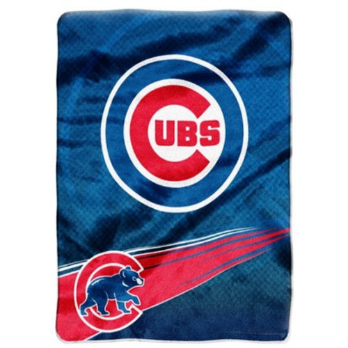 Royal Plush Chicago Cubs Twin blanket