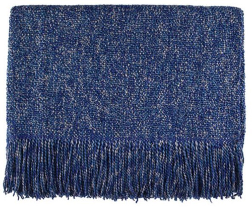 Kennebunk Home Melange Steel Blue Acrylic Throw