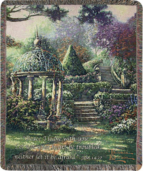 Gazebo of Prayer Throw by Thomas Kinkade