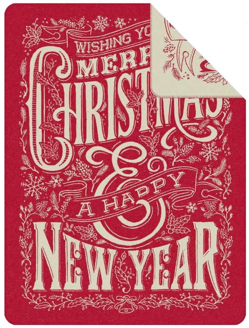 Ibena Merry Christmas Happy New Year Throw Blanket