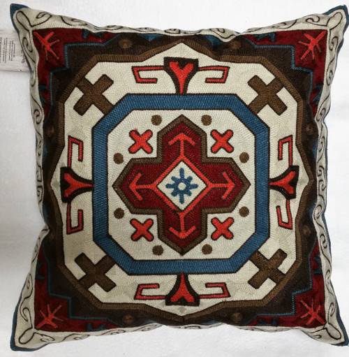 Carstens Southwest Embroidered Shield Pillow