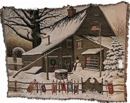 Cocoa Break At The Copperfields Throw by Charles Wysocki