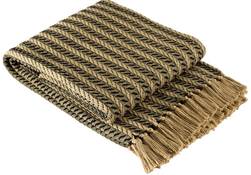 Park Designs Cable Bed Scarf Black And Tan