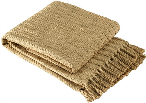 Park Designs Cable Bed Scarf Tan