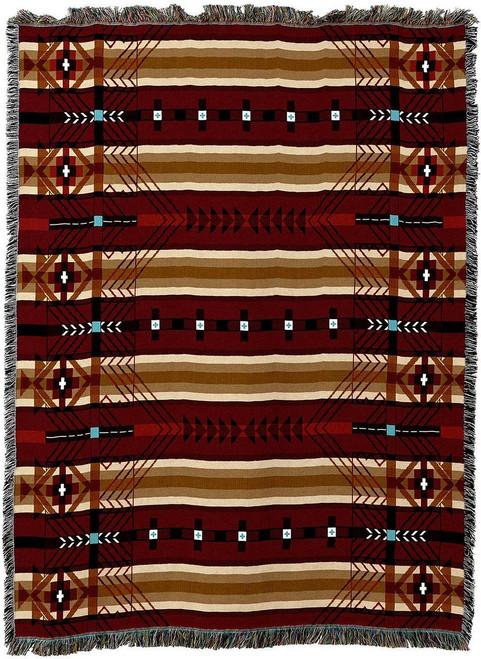 Antelope Ridge Flag Southwest Tapestry Throw