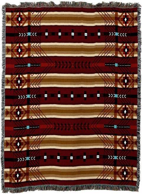 Antelope Ridge Flag Southwest Tapestry Throw