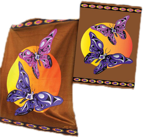 Pacific Blanket Butterfly Polar Fleece Blanket