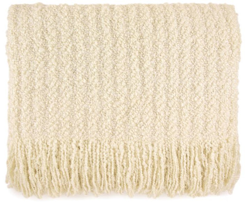 Kennebunk Home Berkshire Throw in Cream