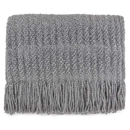 Kennebunk Home Berkshire Throw in Silver