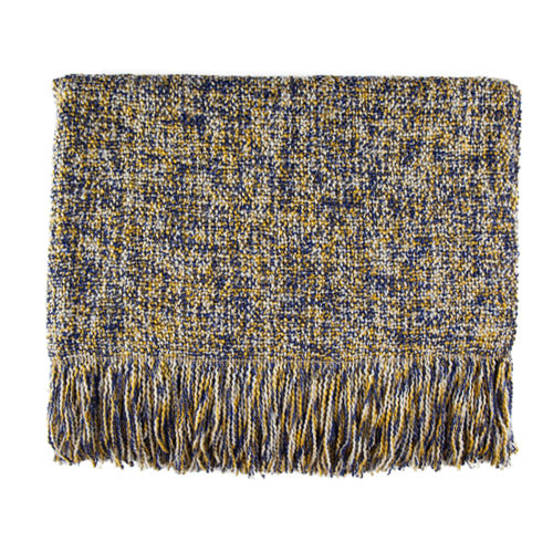Kennebunk Home Melange throw blanket in Cadet
