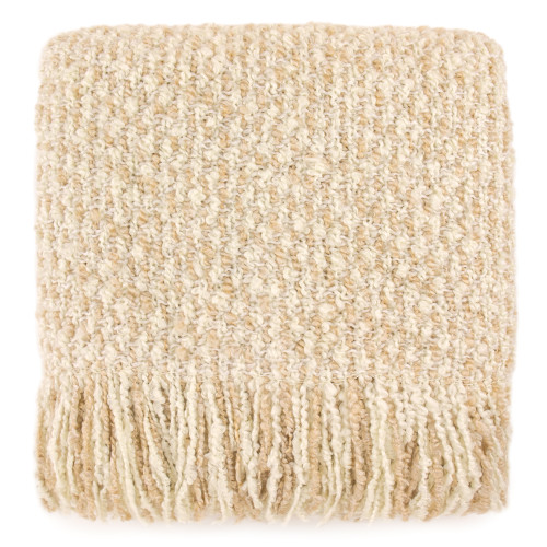 Kennebunk Home Mesa Throw Blanket in Eggshell