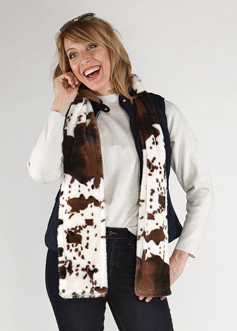 Bedford Cotage Kennebunk Home Giddy Up Faux Fur Scarf