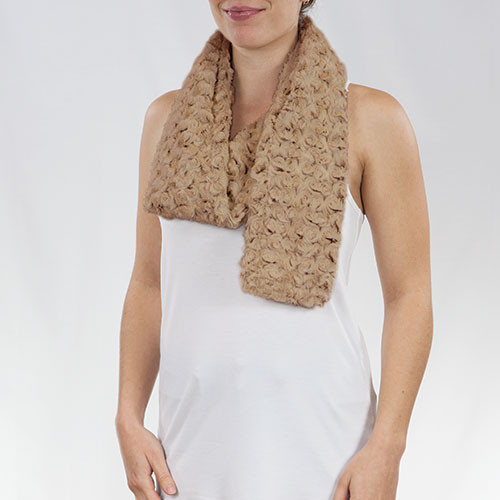 Kennebunk Home Rose Petal Bronze Faux Fur Scarf