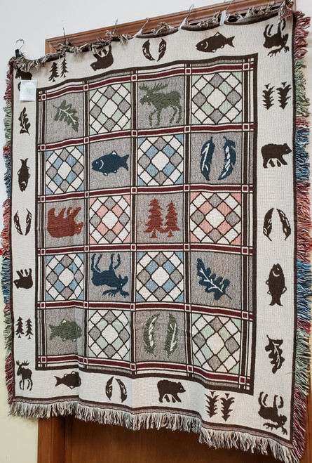 Simply Home Wildlife Sampler Woven Cotton Blanket
