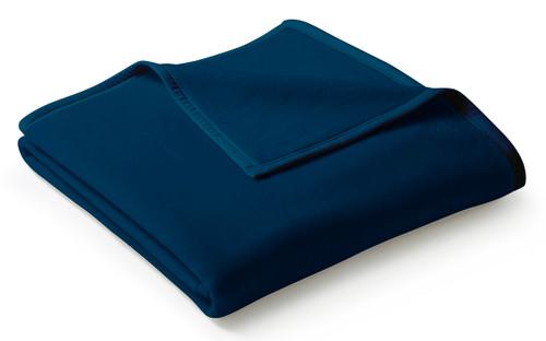 Biederlack Uno Soft Solid Blue Dunkelblau Blanket