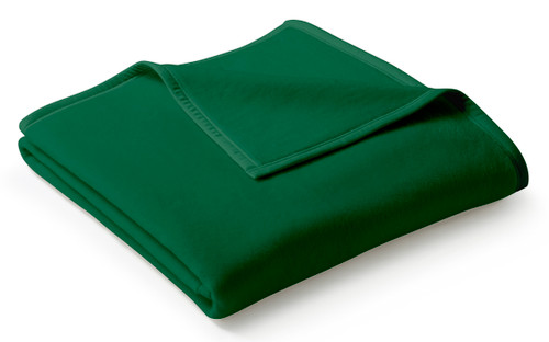 Biederlack Uno Cotton Solid Green Alge Blanket
