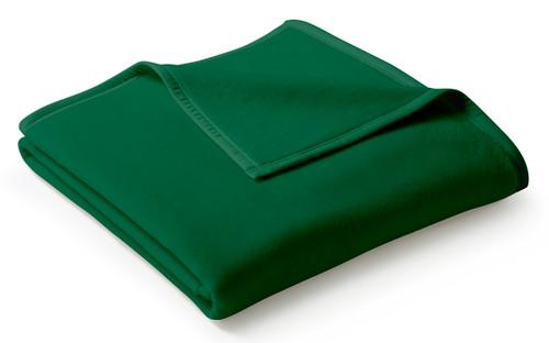 Biederlack Uno Cotton Solid Green Alge Blanket