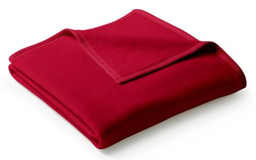 Uno Cotton Solid Red Samtrot Blanket