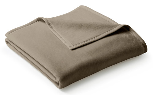 Biederlack Uno Cotton Solid Hazelnut Haselnuss Blanket