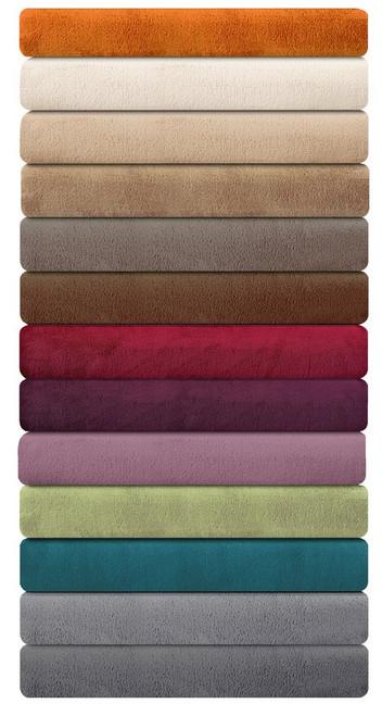 Ibena Porto Solid Plush Throw Blankets