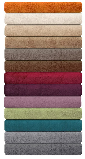 Ibena Porto Solid Plush Throw Blankets