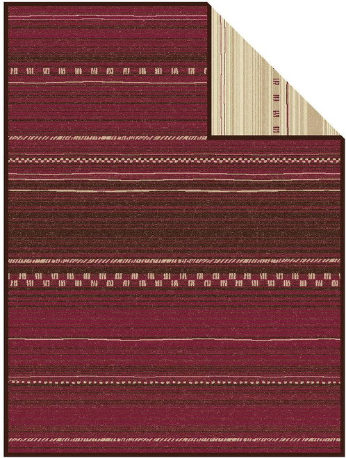 Ibena Nevada Burgandy Saddle Blanket Deisgn Blanket