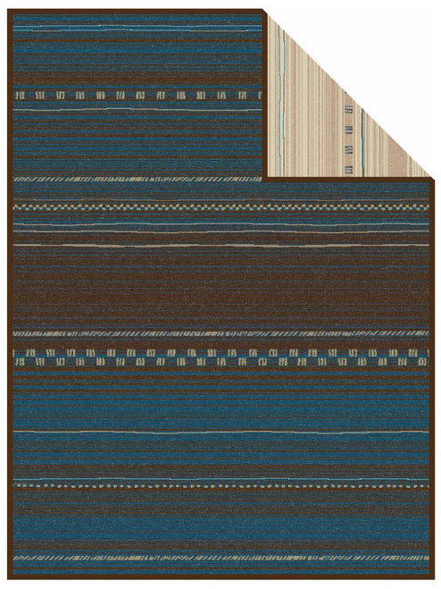Ibena Nevada Turquoise Saddle Blanket Design Blanket