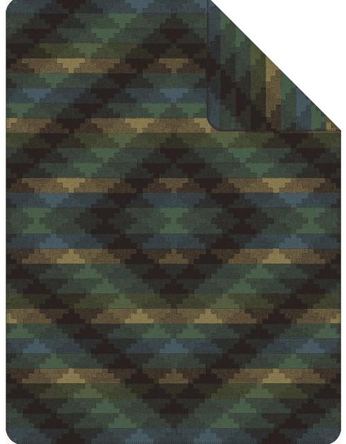 Ibena Dano Emerald Blue Geometric Blanket
