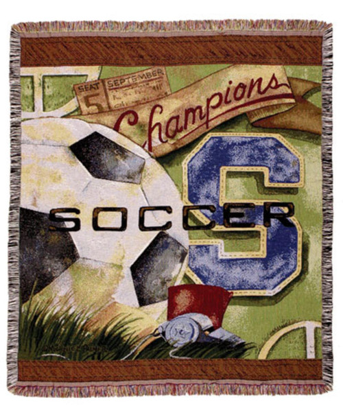 Soccer Champion Tapestry Throw Blanket