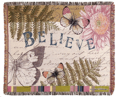 Butterfly Believe Tapestry Throw