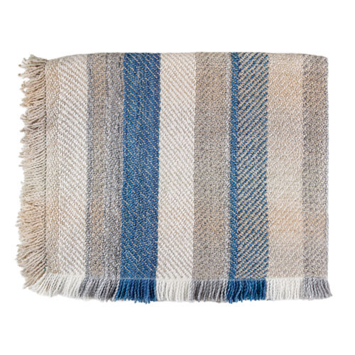 Bedford Cottage Sunapee Driftwood Acrylic Striped Throw