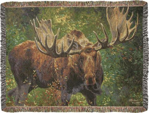 Wide Load Moose Throw Blanket
