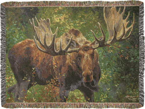 Wide Load Moose Throw Blanket