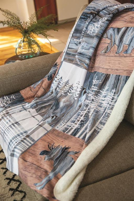 Lodge Fluidity Fleece Throw Blanket