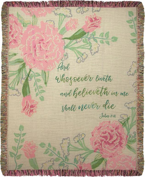 And Whosoever Believeth Tapestry Throw