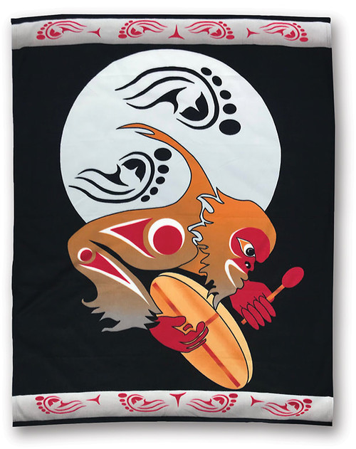 Pacific Blanket Drum To Sasquatch Night Polar Fleece Blanket
