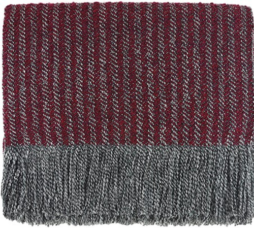 Kennebunk Home Quincy Throw Blanket in Burgundy