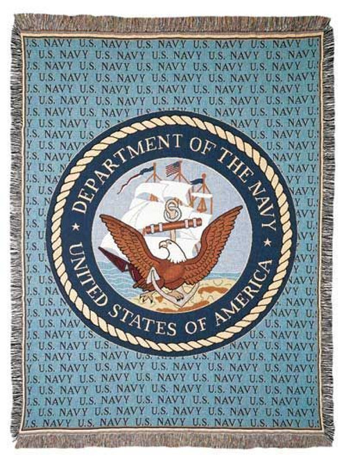 United States Navy Tapestry Throw Blanket