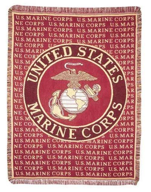 United States Marines Marine Corps Tapestry Throw Blanket