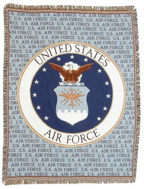 United States Air Force Tapestry Throw